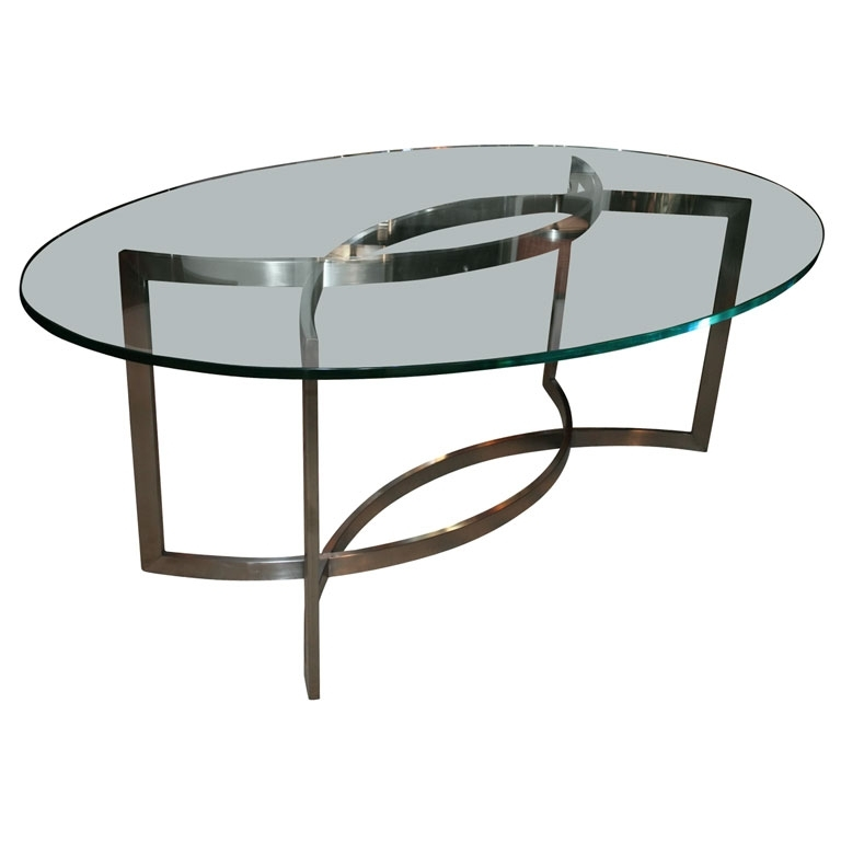 Glass And Stainless Steel Dining Tablepaul Le Geard Ozfjvnr Throughout Most Current Glass And Stainless Steel Dining Tables (Gallery 14 of 20)