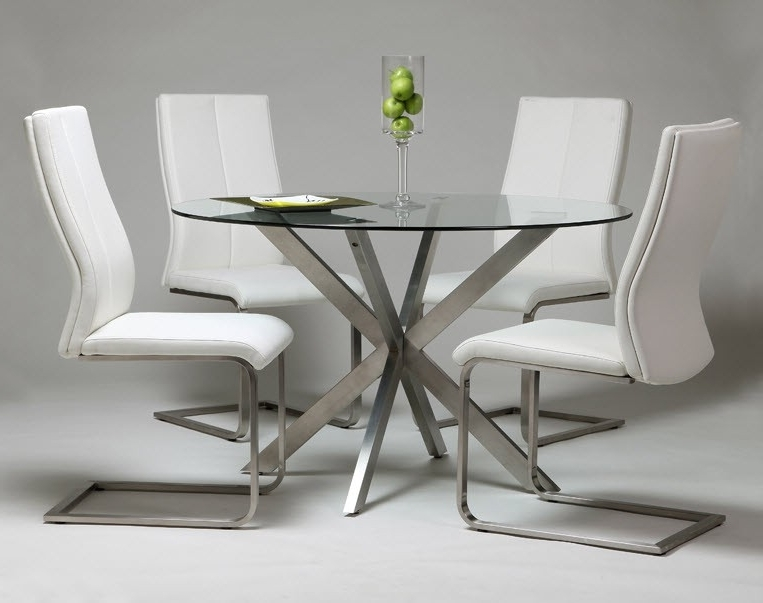 Glass And Stainless Steel Dining Tables With Regard To Best And Newest Modern Home And Office Furniture Store Eritea Dining Table With (View 10 of 20)