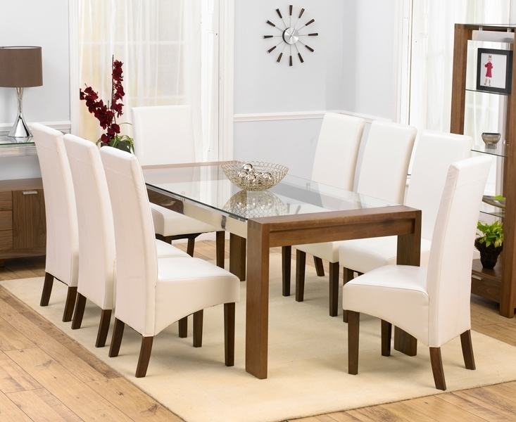 Glass Dining Table And 8 Chairs Gallery For Chair Set Plans 19 In Most Popular Dining Tables With 8 Chairs (View 10 of 20)