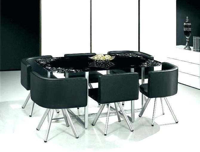 Glass Dining Tables And 6 Chairs Within 2017 Round Dining Room Sets For 6 – Linkafx (View 14 of 20)