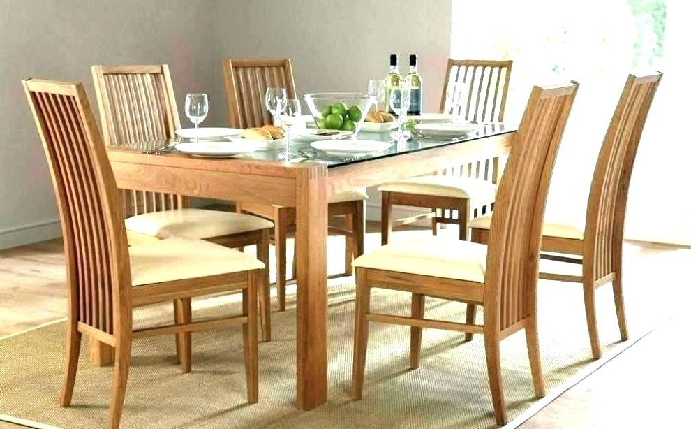 Glass Dining Tables And 6 Chairs Within Current Glass Dining Table And 6 Chairs To 8 Extendable Top Throughout Sets (View 18 of 20)