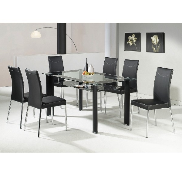 Glass Dining Tables And 6 Chairs Within Most Recent Dining Table Sets With 6 Chairs Awesome Uhuru Furniture (View 15 of 20)