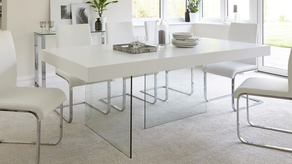 Glass Dining Tables – Soulpower With Trendy Glass Dining Tables With Oak Legs (Gallery 16 of 20)