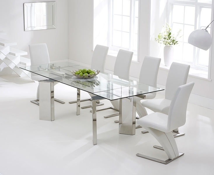 Glass Extendable Dining Tables And 6 Chairs With Fashionable Chair Dining Tables Througho White Glass Dining Table And 6 Chairs (View 12 of 20)