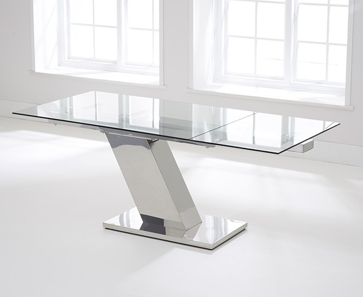 Glass Extending Dining Tables Inside Most Recent Buy Mark Harris Lamont Glass Dining Table – 140Cm Rectangular (View 7 of 20)