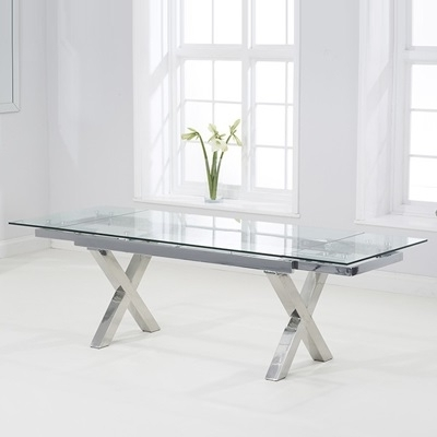 Glass Extending Dining Tables Pertaining To Widely Used Centro Glass Extending Dining Table – Robson Furniture (View 9 of 20)
