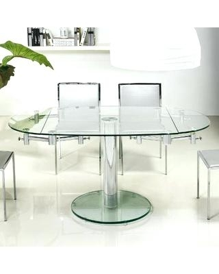 Glass Extending Dining Tables With Newest Amazing Oval Glass Dining Tables Collection Glass Extending Dining (View 11 of 20)