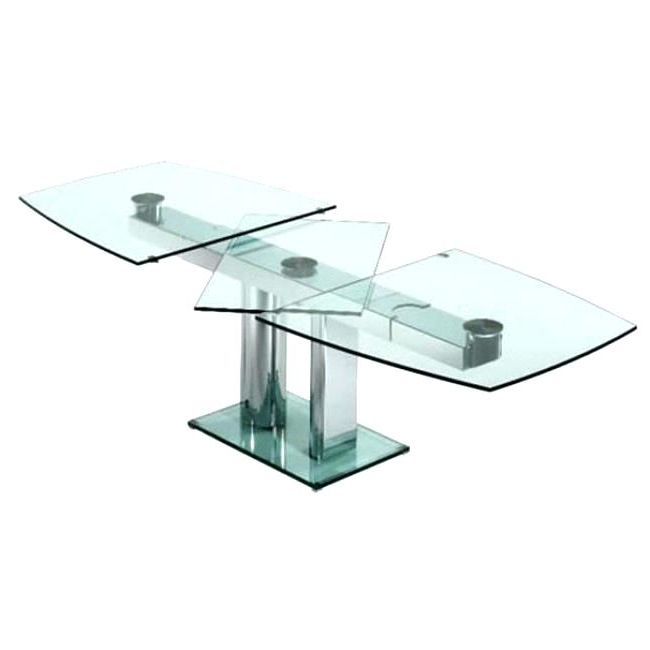 Glass Folding Dining Table Extendable Alluring Extending And Chairs Throughout Well Known Glass Folding Dining Tables (View 6 of 20)