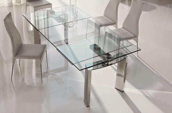 Glass Folding Dining Tables Within Latest 10 Extendable Dining Tables Of Glass, Wood And Plastic (View 10 of 20)