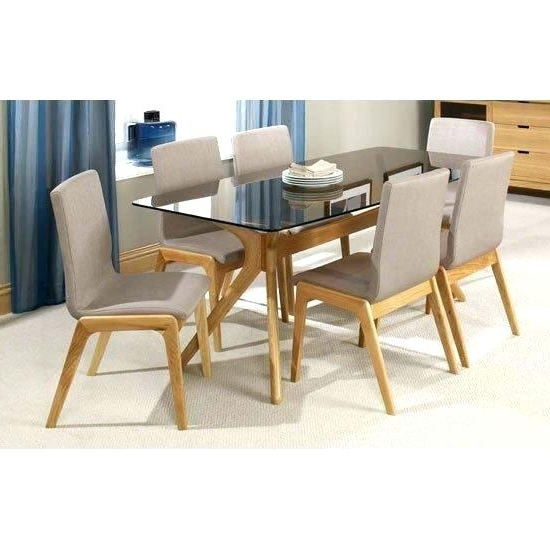 Glass Top Oak Dining Tables In Most Recently Released Glass Top Oak Dining Table Glass Top Oak Round Dining Table – Buxenz (Gallery 5 of 20)