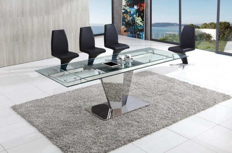 Glass Vault Furniture Regarding Preferred Chrome Glass Dining Tables (View 10 of 20)