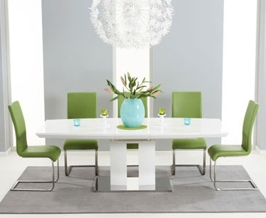 Gloss Dining Set Regarding Widely Used High Gloss Dining Sets (Gallery 17 of 20)