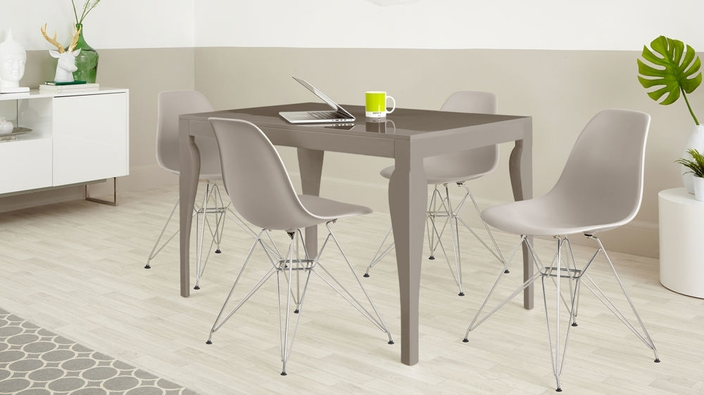 Gloss Dining Sets Pertaining To Well Liked 4 Seater Dining Set (View 7 of 20)