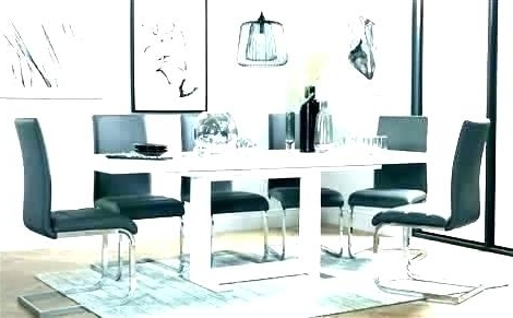 Gloss Dining Sets With Most Up To Date High Gloss Dining Table High Gloss Dining Table And Chairs Sale (Gallery 14 of 20)