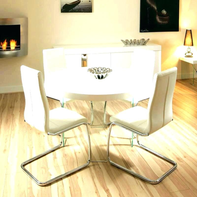 Gloss Dining Tables Sets Throughout Preferred White Gloss Dining Table Set White Gloss Dining Table And Real (Gallery 17 of 20)