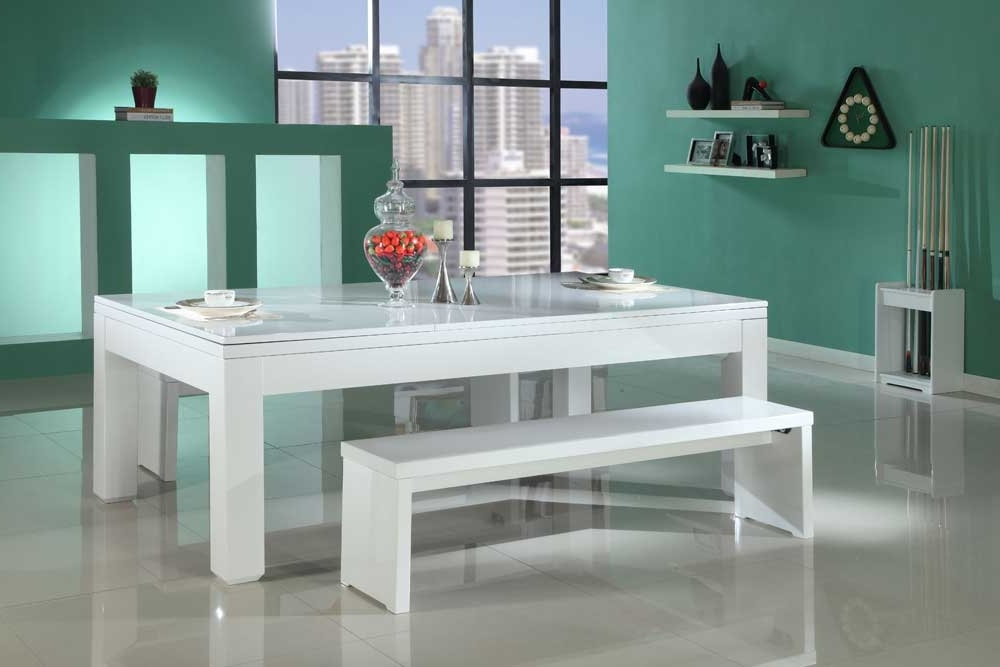 Gloss White Pool Dining Table – Custom Snooker Throughout Recent Gloss White Dining Tables (View 10 of 20)