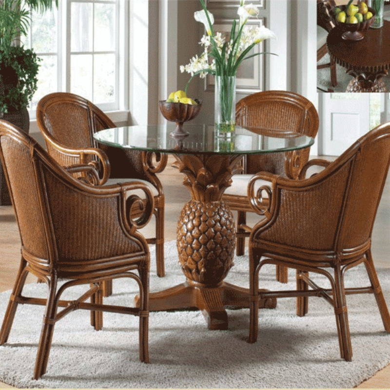 Grady 5 Piece Round Dining Sets Throughout 2017 Ocean Reef 5 Pc. Dining Set Includes Four Dining Armchairs And Round (Gallery 13 of 20)