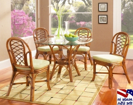 Grand Isle Rattan And Wicker Dining Sets 3760classic Rattan Within 2018 Wicker And Glass Dining Tables (View 2 of 20)