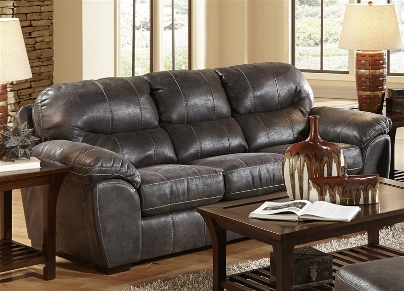 Grant Sofa Sleeper In Steel Leatherjackson Furniture – 4453 04 St In Current Jackson 6 Piece Power Reclining Sectionals With  Sleeper (View 7 of 15)