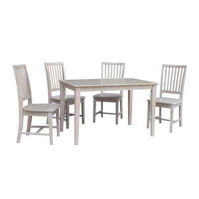 Gray – Dining Room Sets – Kitchen & Dining Room Furniture – The Home Pertaining To Recent Craftsman 5 Piece Round Dining Sets With Uph Side Chairs (View 6 of 20)