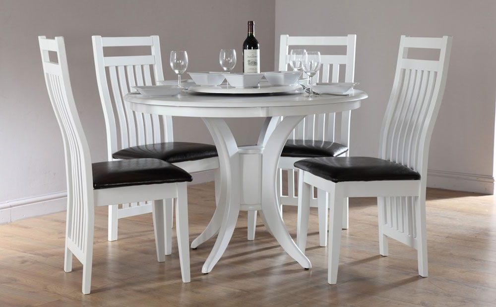 Great Round Dining Tables And Chairs Sets White Round Dining Table Pertaining To Widely Used White Circle Dining Tables (Gallery 13 of 20)