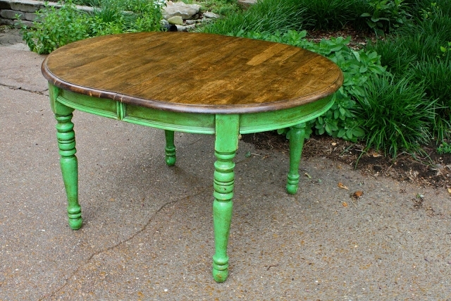 Green Dining Tables Regarding Most Recently Released Colorful Painted Dining Table Inspiration (View 9 of 20)