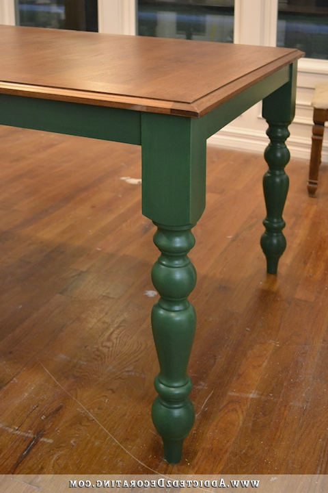 Green Dining Tables Within Popular Change Of Plans – Black Table, Green Chairs (Gallery 11 of 20)