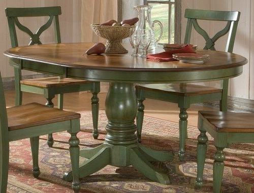 Green Dining Tables Within Well Liked Sidney Dining Room Set Green Country French Round Table And 4 Chairs (View 2 of 20)
