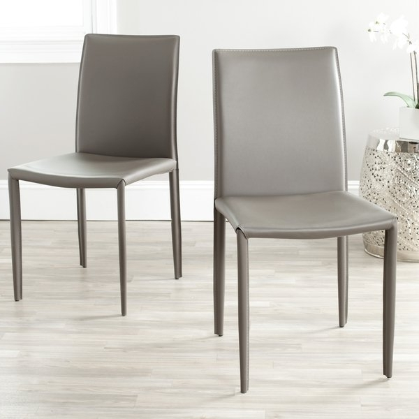Grey Dining Chairs With Widely Used Shop Safavieh Mid Century Dining Jazzy Bonded Leather Grey Dining (View 7 of 20)