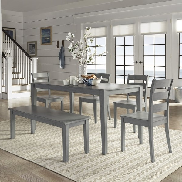 Grey Dining Tables With 2017 Shop Wilmington Ii 60 Inch Rectangular Antique Grey Dining Set (View 8 of 20)
