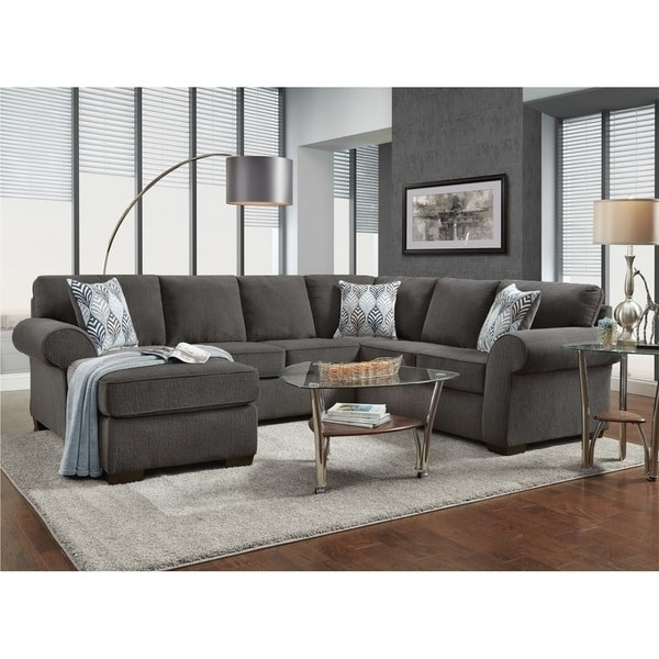Grey Sectional Mcdade Graphite 2 Piece W Raf Chaise Living Spaces Within Favorite Mcdade Graphite 2 Piece Sectionals With Raf Chaise (View 5 of 15)