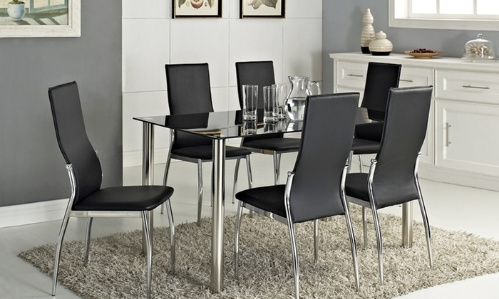 Groupon Intended For Most Up To Date Roma Dining Tables And Chairs Sets (View 5 of 20)