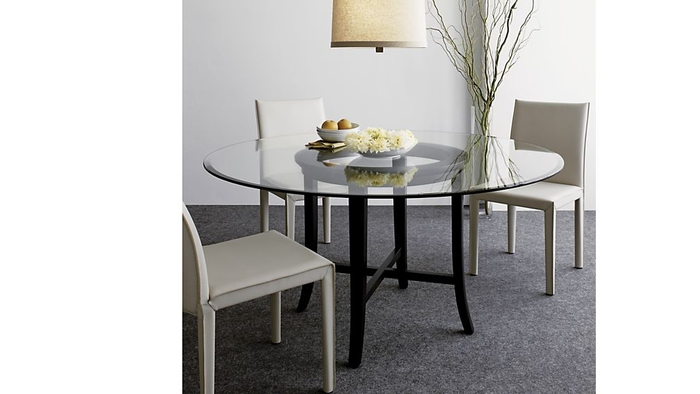 """Halo Ebony Round Dining Table With 48"""" Glass Top + Reviews (Gallery 20 of 20)"""