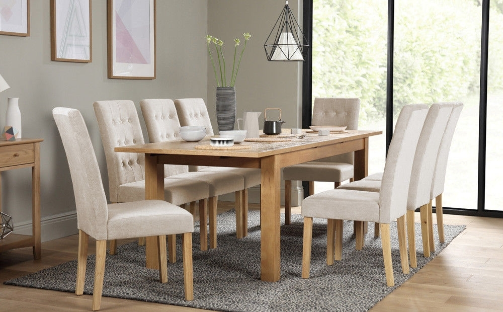 Hamilton 180 230Cm Oak Extending Dining Table – With 4 6 8 Regent With Favorite Oak Extending Dining Tables And 8 Chairs (Gallery 17 of 20)