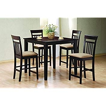 Harper 5 Piece Counter Sets For Recent Amazon – Dorel Living 5 Piece Redmond Traditional Height Dining (Gallery 5 of 20)
