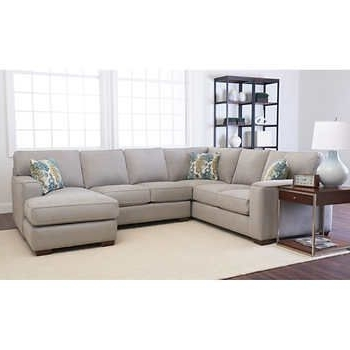 Harper Down 3 Piece Sectionals Pertaining To 2018 Abbott 3 Piece Fabric Sectional Gray Or Dark Graypolyester Blendleft (View 13 of 15)
