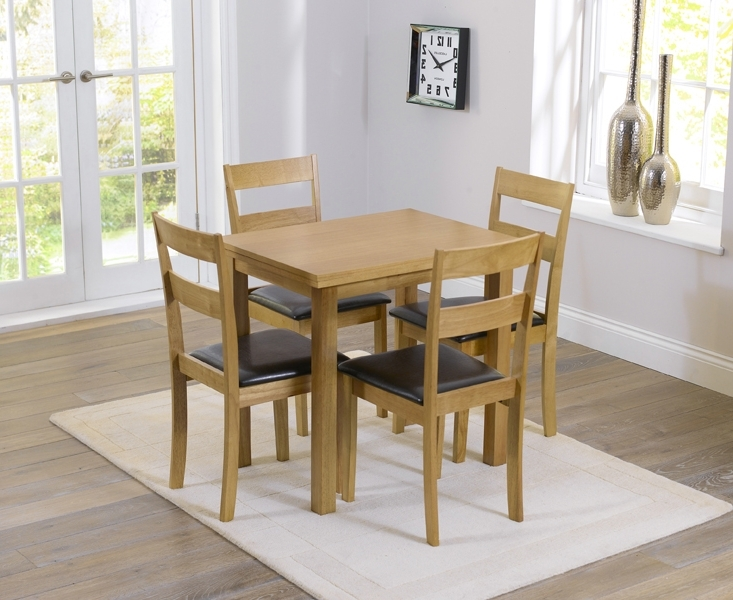 Hastings 60Cm Extending Dining Table And Chairs With Popular Oak Dining Tables And 4 Chairs (Gallery 8 of 20)