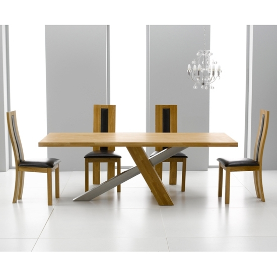 Havana Dining Tables Within Current Antonio Solid Oak Dining Table And 6 Havana Dining Chairs (View 5 of 20)
