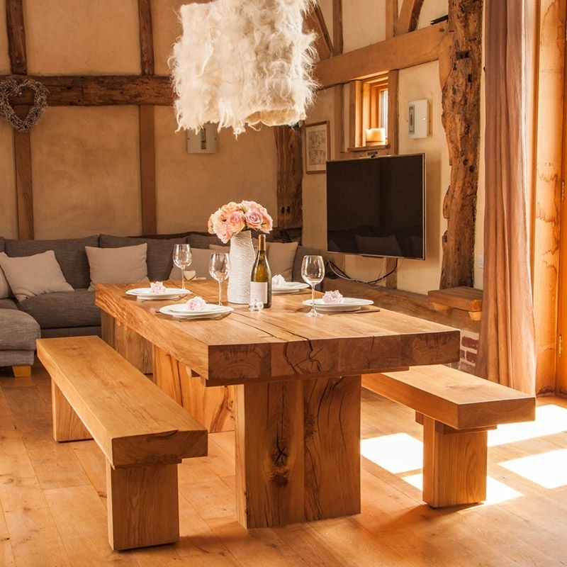 Have It Straight Chunky Solid Oak Dining Table With Regard To Fashionable Oak Dining Tables (View 5 of 20)
