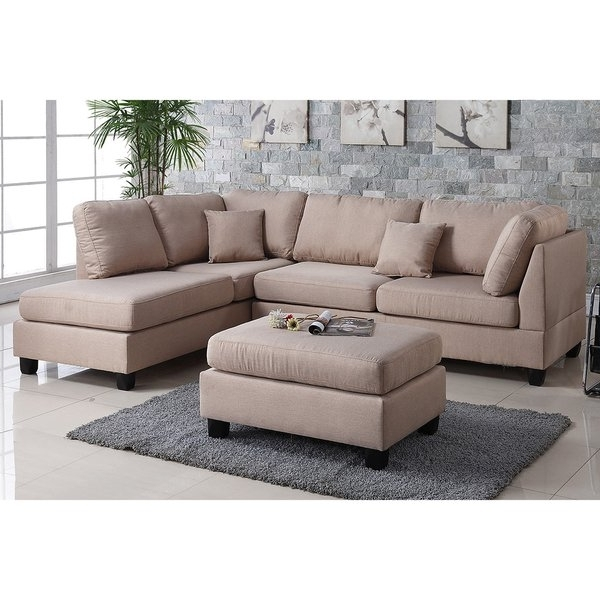 Haven 3 Piece Sectionals For Popular Shop Pistoia 3 Piece Sectional Sofa With Ottoman Upholstered In (View 10 of 15)