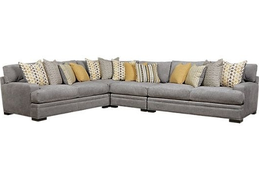Haven Blue Steel 3 Piece Sectionals In Recent Cindy Crawford Home Palm Springs Gray 4 Pc Sectional . $2, (View 12 of 15)