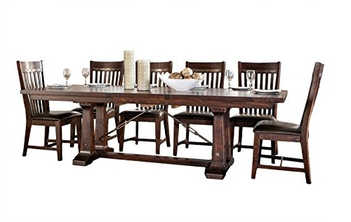 Hayden Dining Tables Throughout Most Up To Date Amazon – Intercon Hayden Rough Sawn & Espresso 7 Piece Dining (View 8 of 20)