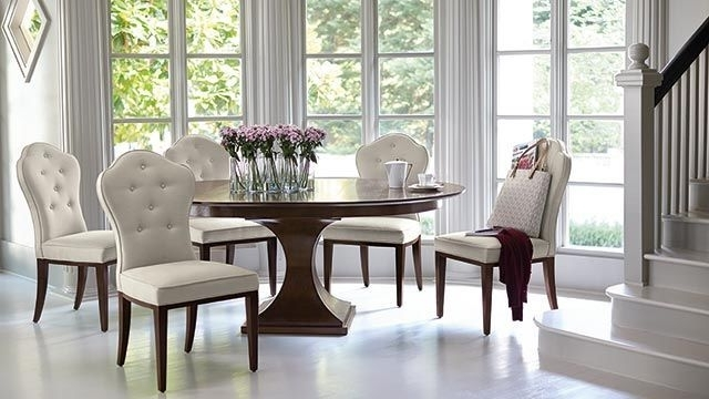 Helms 5 Piece Round Dining Sets With Side Chairs In Best And Newest Kuolin Furniture Dining Room Tables (View 4 of 20)