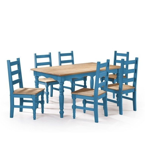 Helms 5 Piece Round Dining Sets With Side Chairs Regarding Well Known Shop Manhattan Comfort Jay 7 Piece Solid Wood Dining Set With (View 3 of 20)