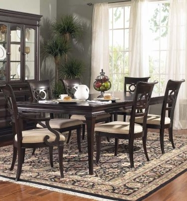 Helms 6 Piece Rectangle Dining Sets With Side Chairs Within Well Known Kendall Rectangular Leg Dining Table, Samuel Lawrence, Kendall (View 9 of 20)