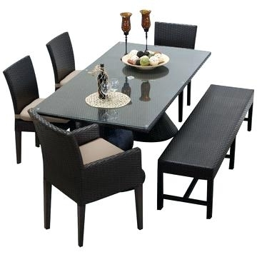 Helms 7 Piece Rectangle Dining Sets Intended For Fashionable Outdoor Rectangular Dining Table Rectangular Patio Dining Table (View 18 of 20)
