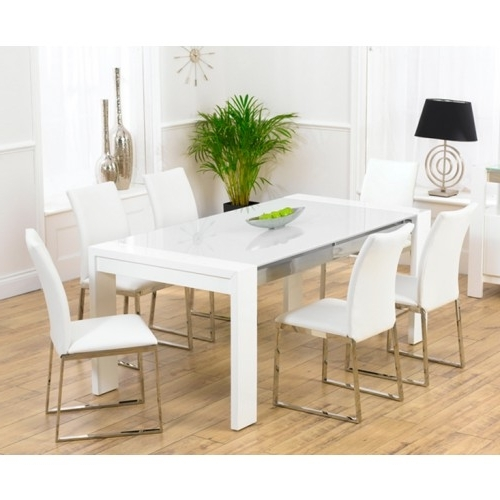 Hi Gloss Dining Tables In Famous Sophia White High Gloss Dining Table (View 5 of 20)