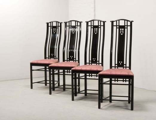 High Back Dining Chairs With Regard To Newest High Back Dining Chairs From Giorgetti, 1980S, Set Of 4 For Sale At (View 10 of 20)