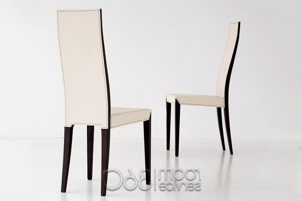 High Back Leather Dining Chairs Regarding Recent High Back Dining Chairs (Gallery 10 of 20)