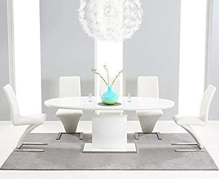 High Gloss Contemporary White Seville 160Cm Extending Oval Extending For Most Popular White High Gloss Oval Dining Tables (Gallery 2 of 20)